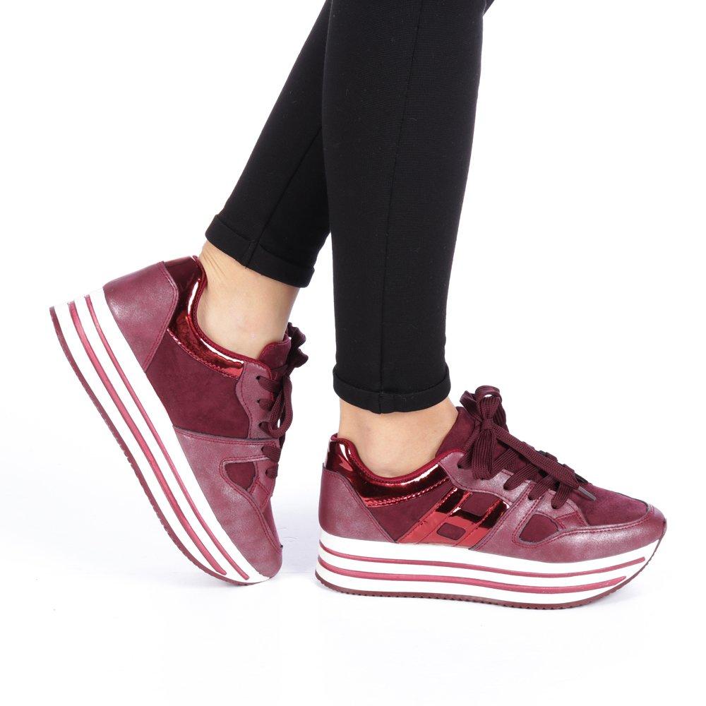 Pantofi sport dama Consuelo rosii