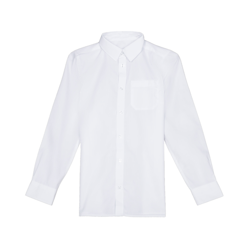 Set 2 camasi baieti F&F School cu maneca lunga albe