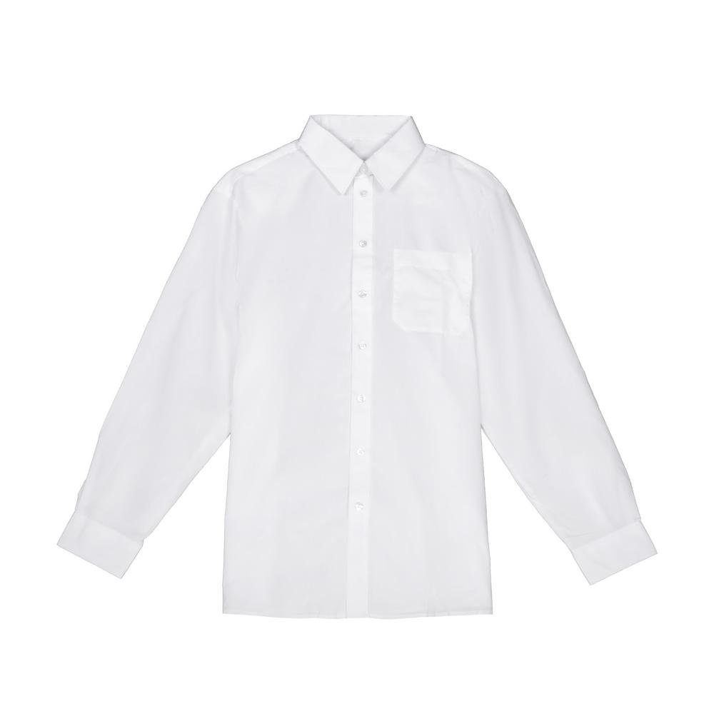 Set 3 camasi baieti Back to School cu maneca lunga albe