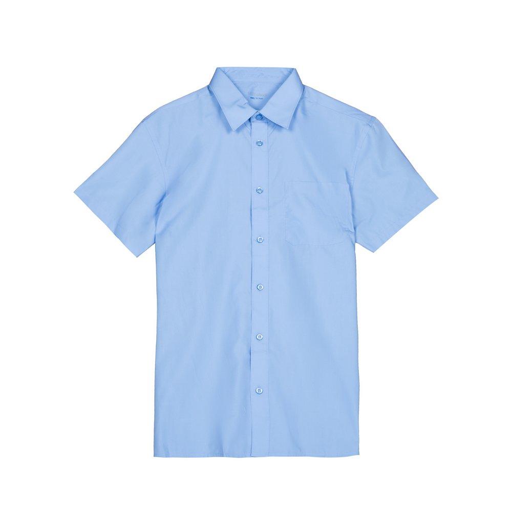 Set 2 camasi baieti M&S cu maneca scurta albastre