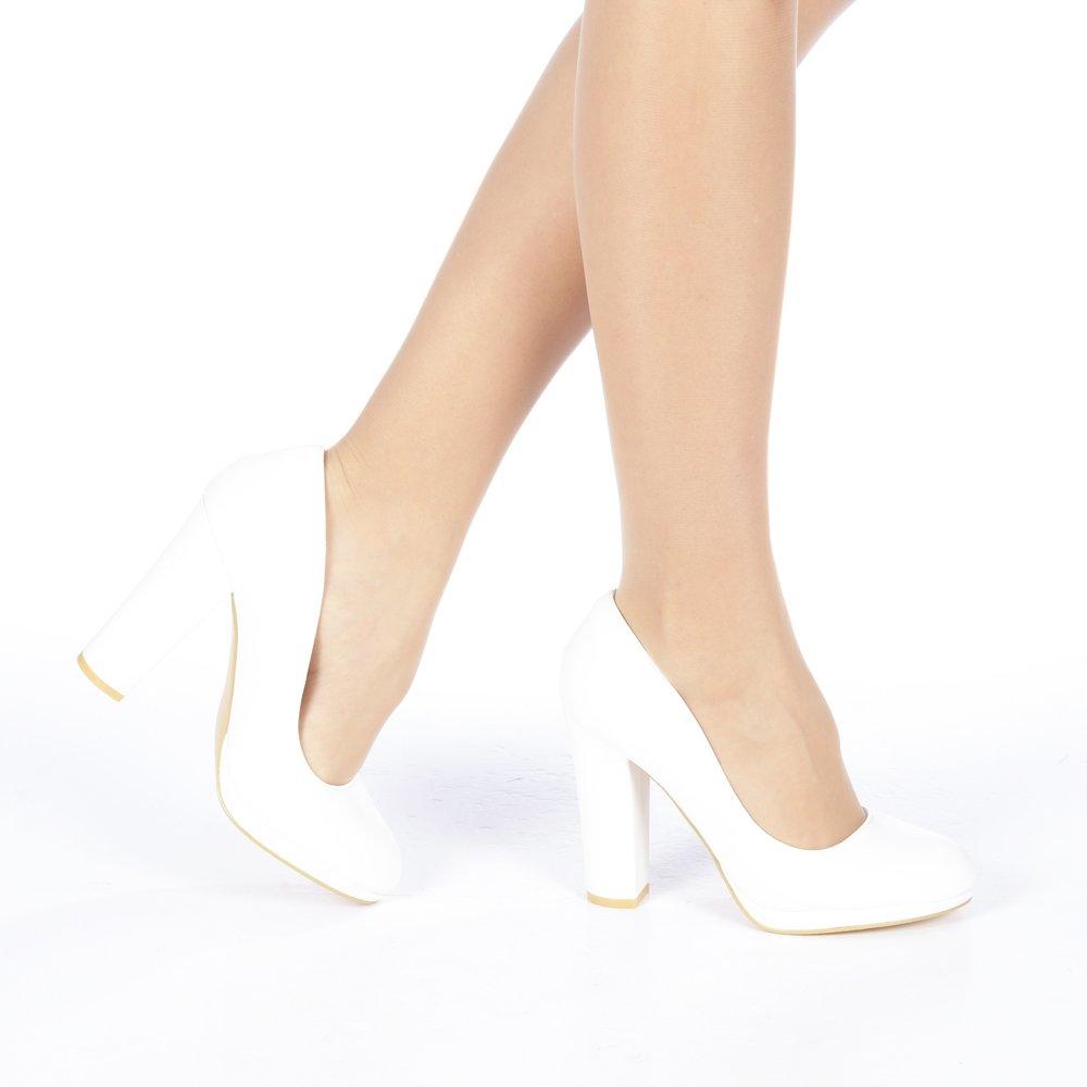 Pantofi dama Ambar albi