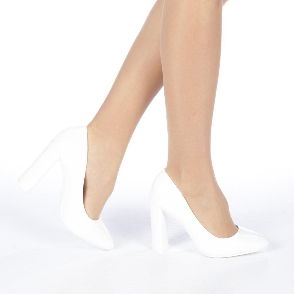 Pantofi dama Cibeles albi