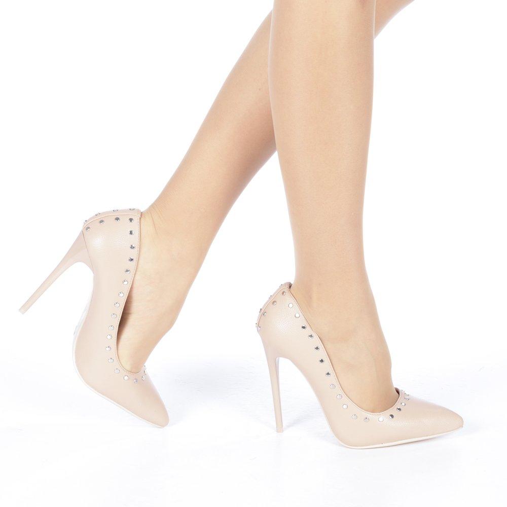 Pantofi stiletto Daiana rose