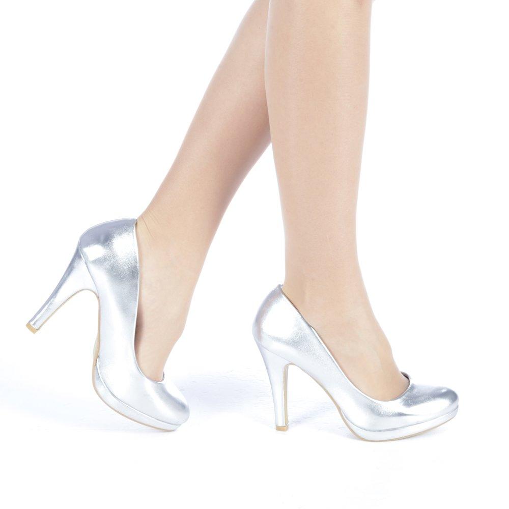Pantofi dama Elenia argintii