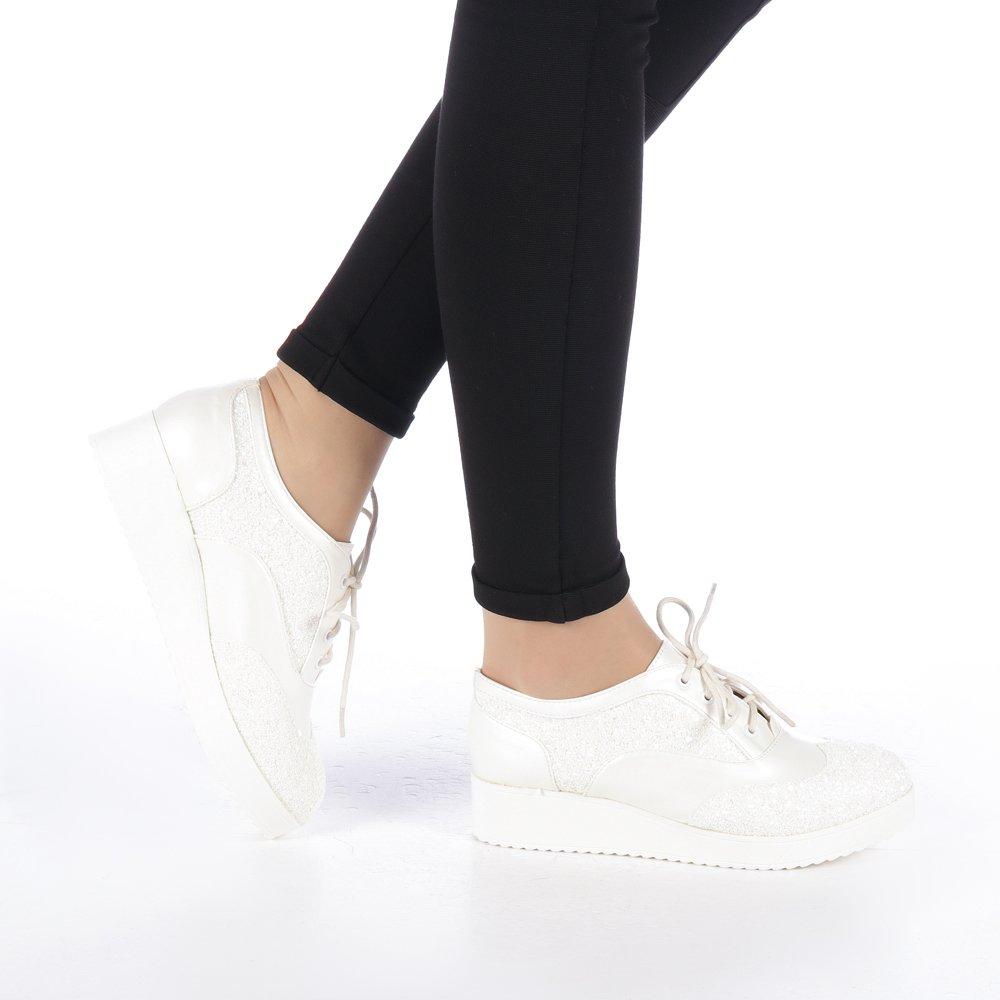 Pantofi dama Mirona albi