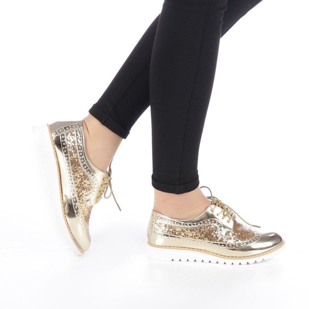 Pantofi dama Genima aurii