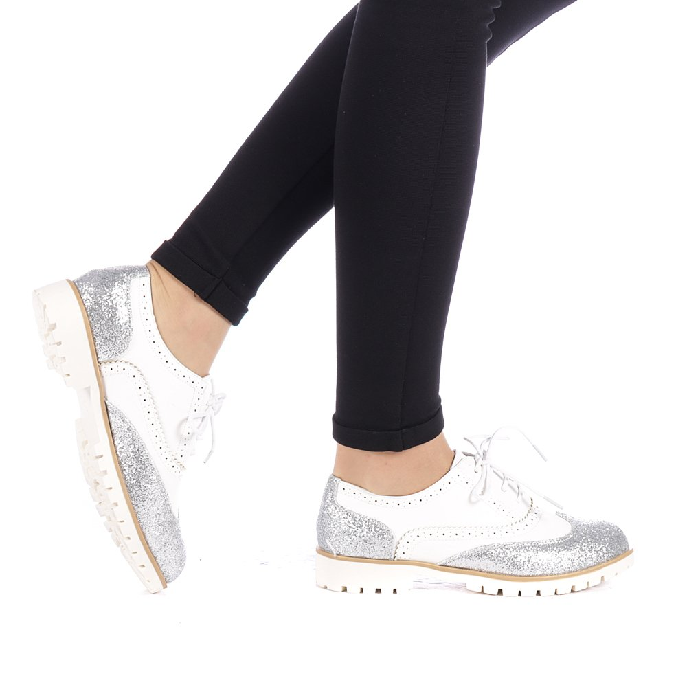 Pantofi dama Simana argintii