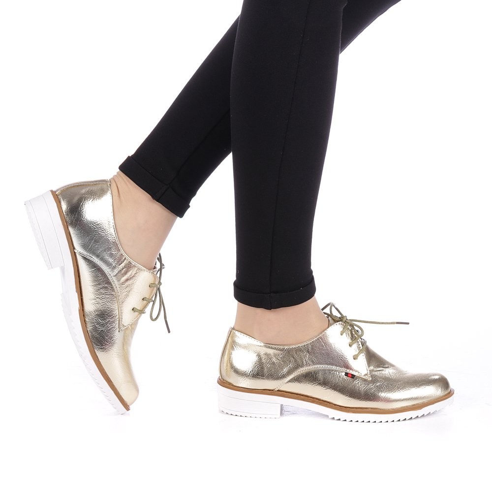 Pantofi dama Tifas aurii
