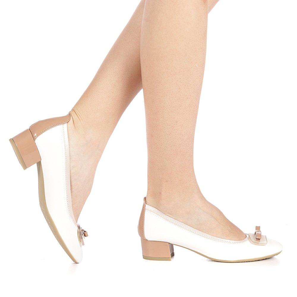 Pantofi dama Topka albi