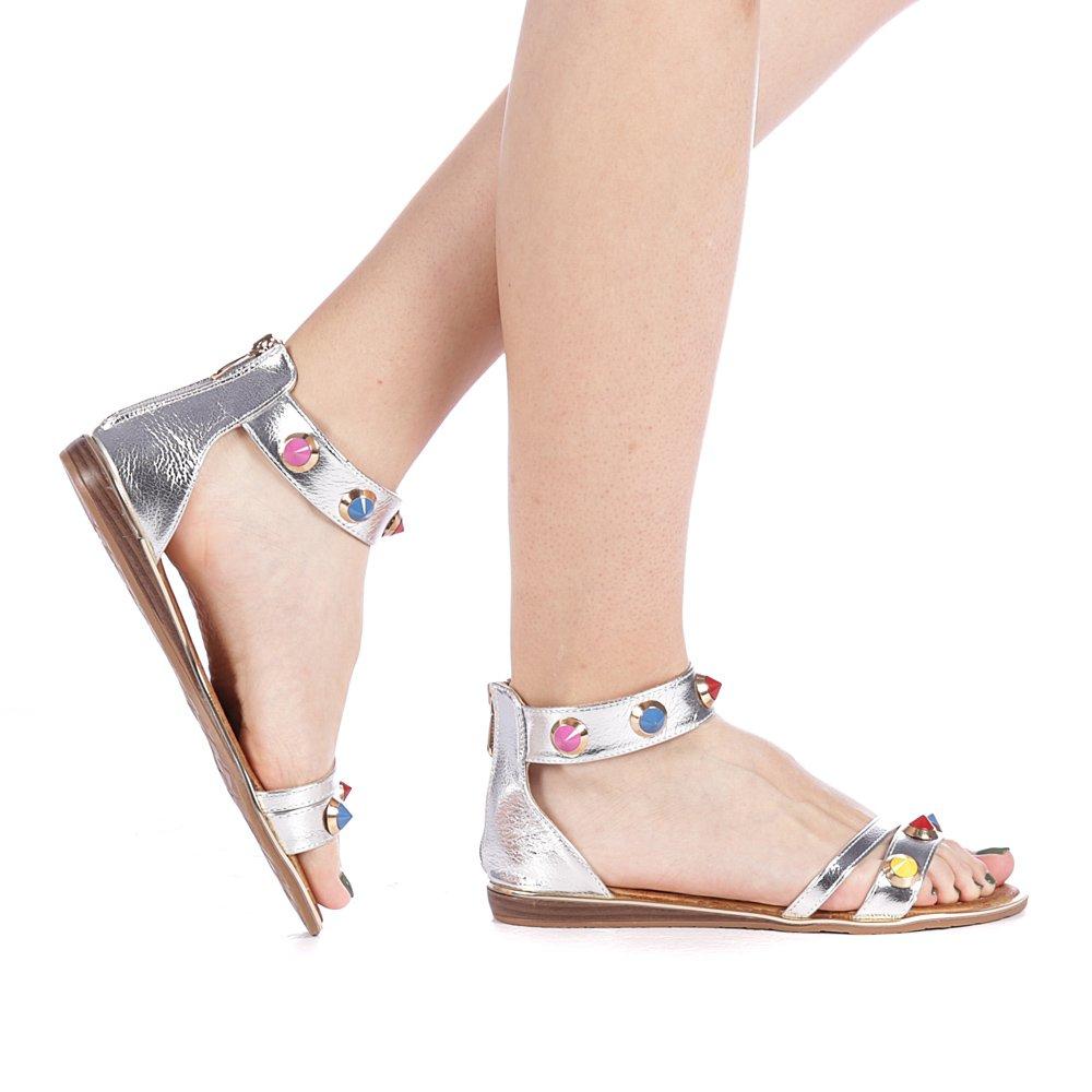 Sandale dama Darina argintii