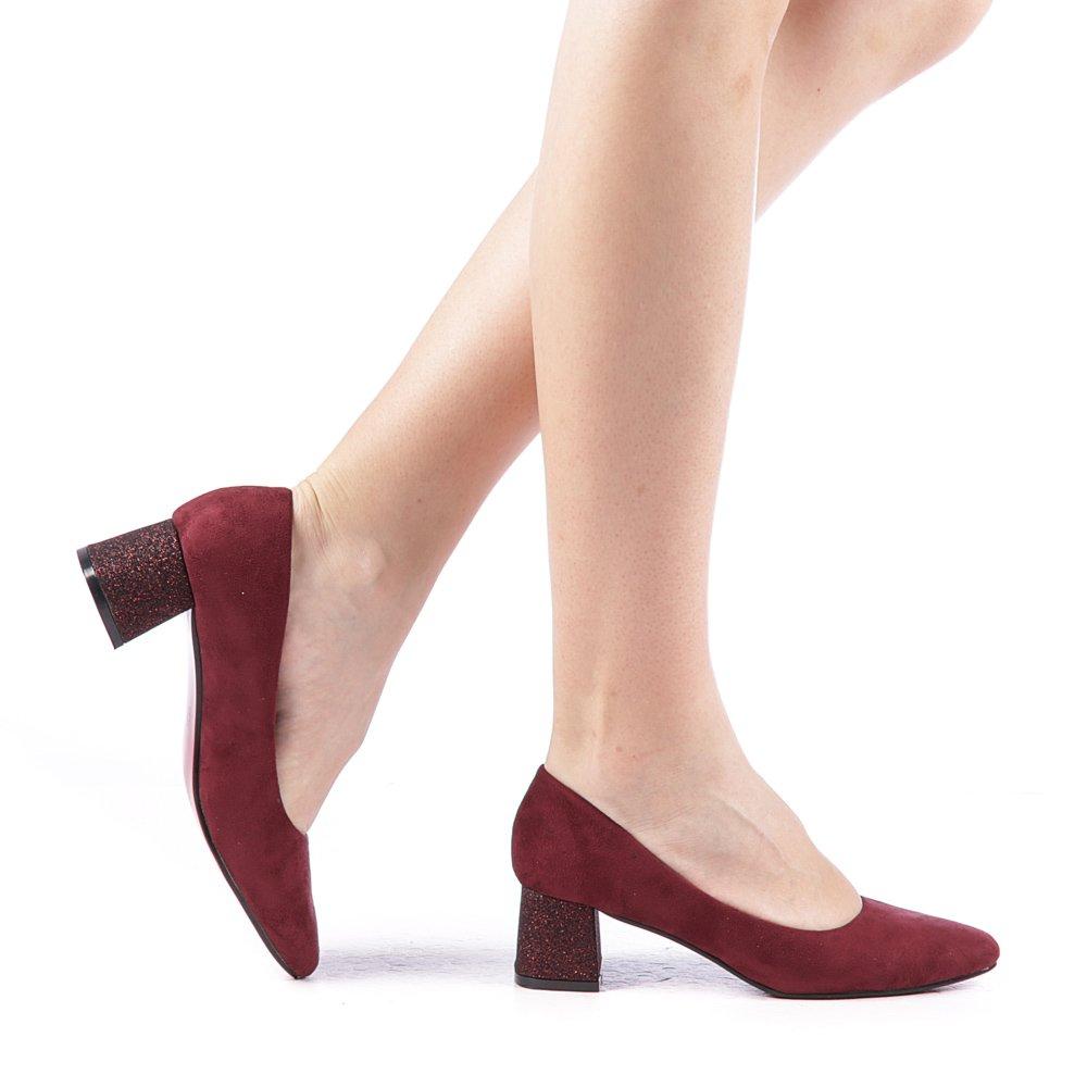 Pantofi dama Brona grena