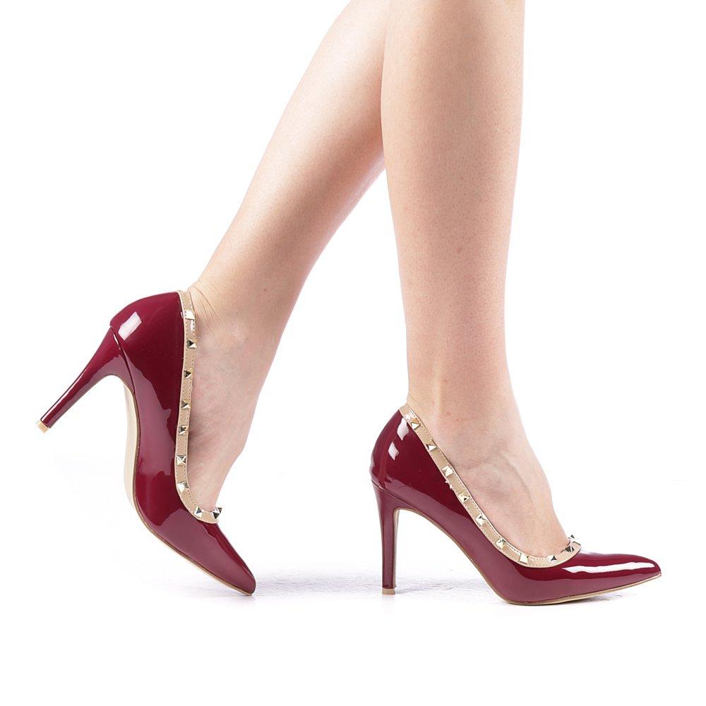 Pantofi dama Lomon grena