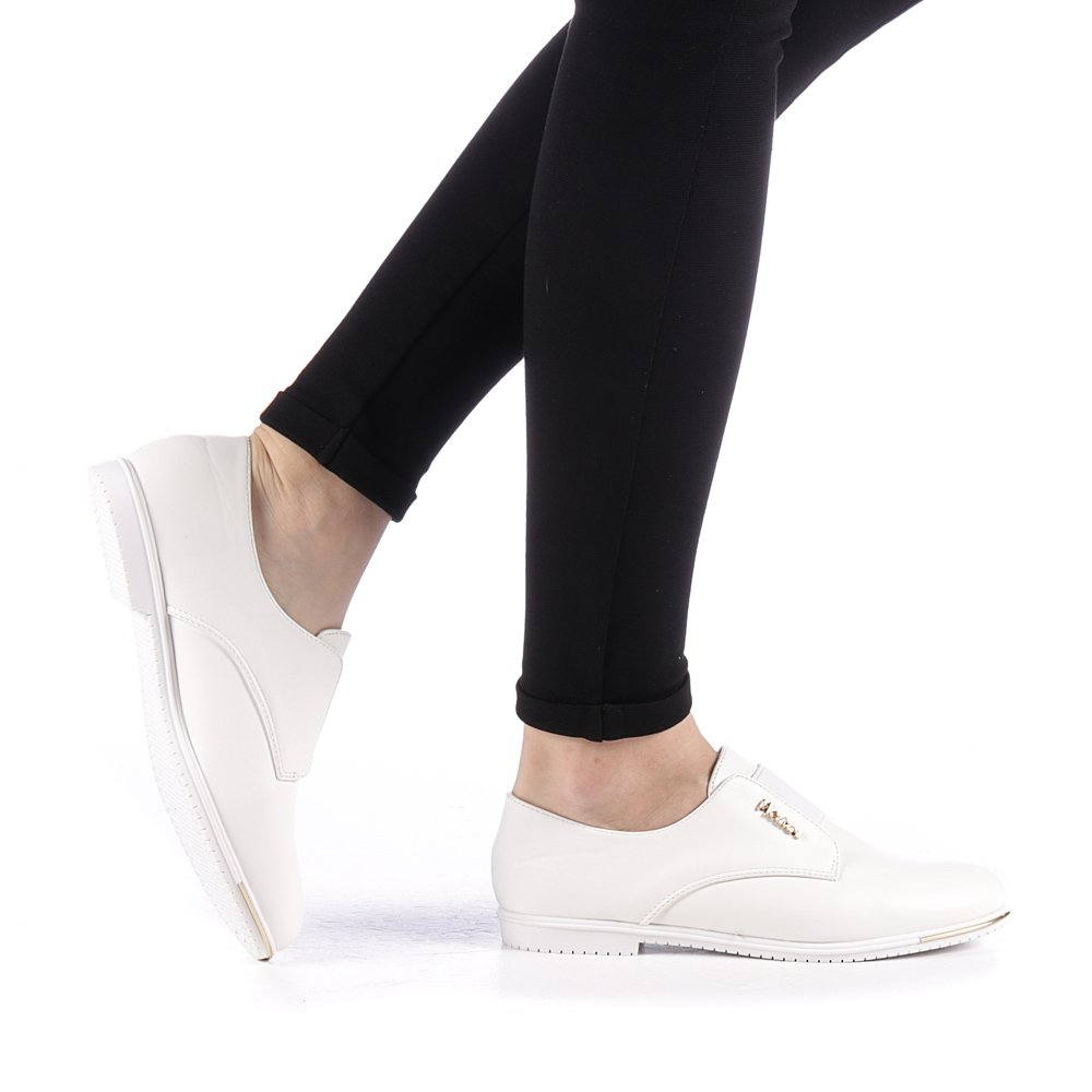 Pantofi dama Mollaco albi