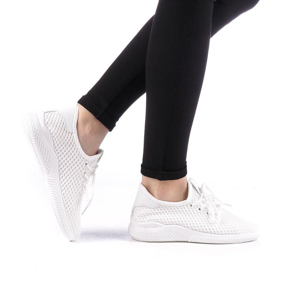 Pantofi sport dama Prugia albi