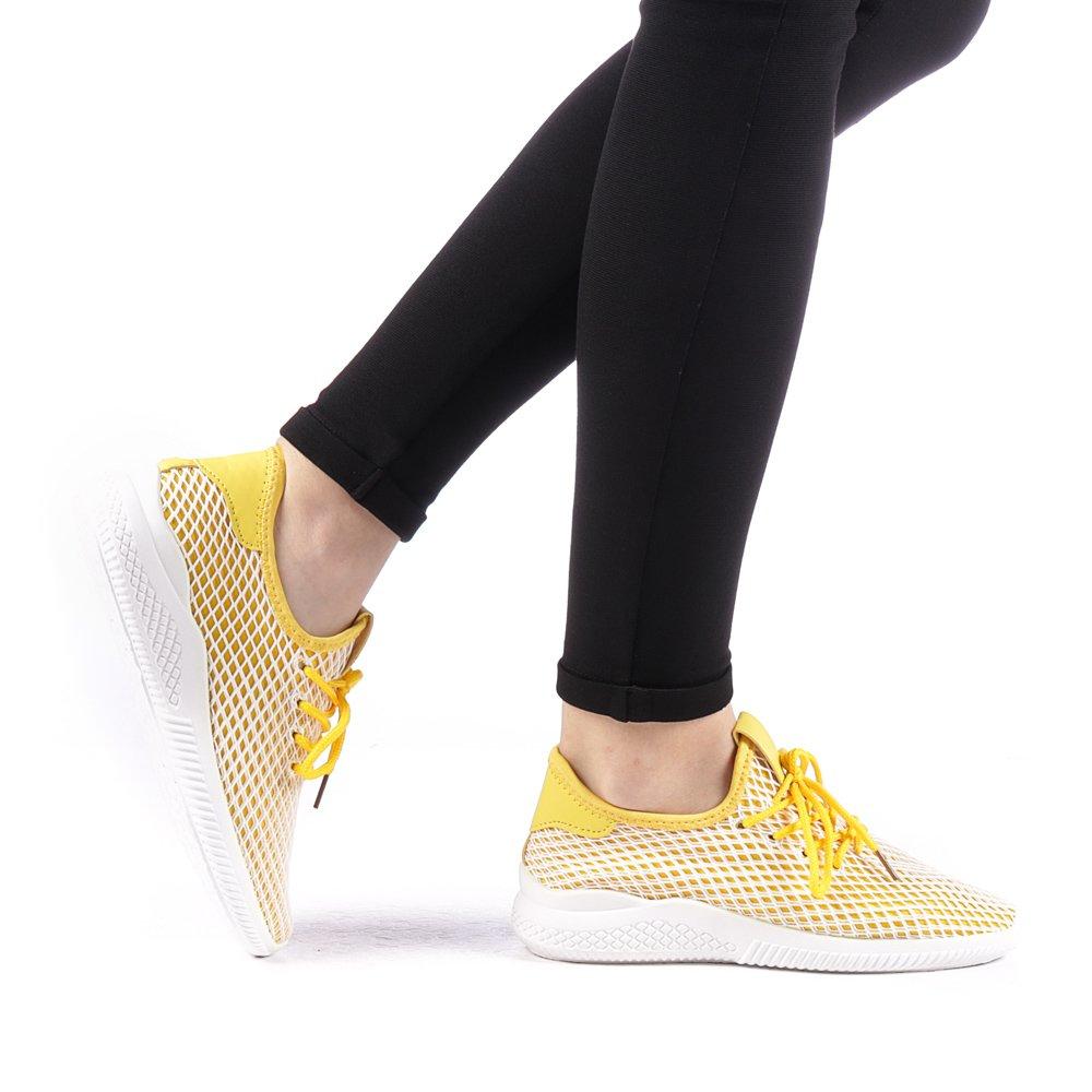 Pantofi sport dama Prugia galbeni