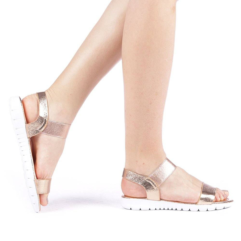 Sandale dama Alyso champanie