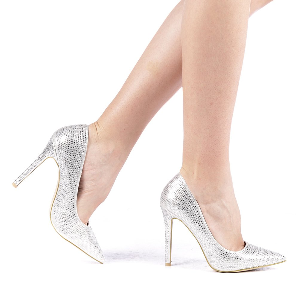 Pantofi dama Plont argintii