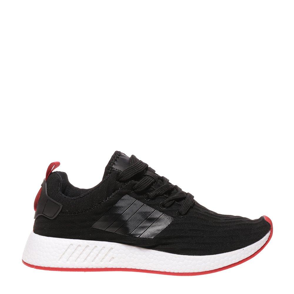 Pantofi sport barbati Jamilian negri cu rosu