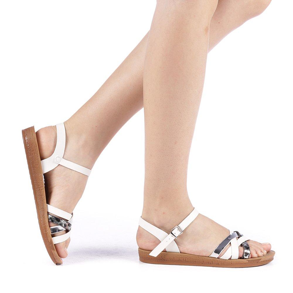 Sandale dama Amilon albe