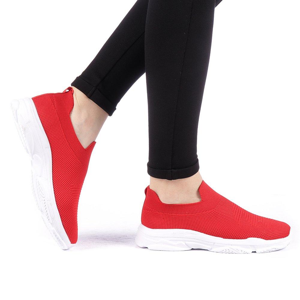 Pantofi sport dama Prugia negri cu alb