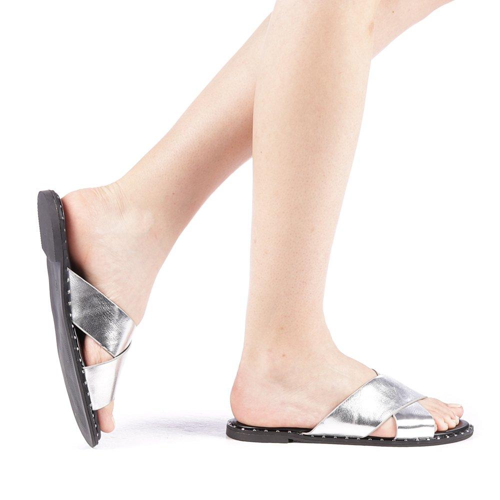 Papuci dama Estoria argintii