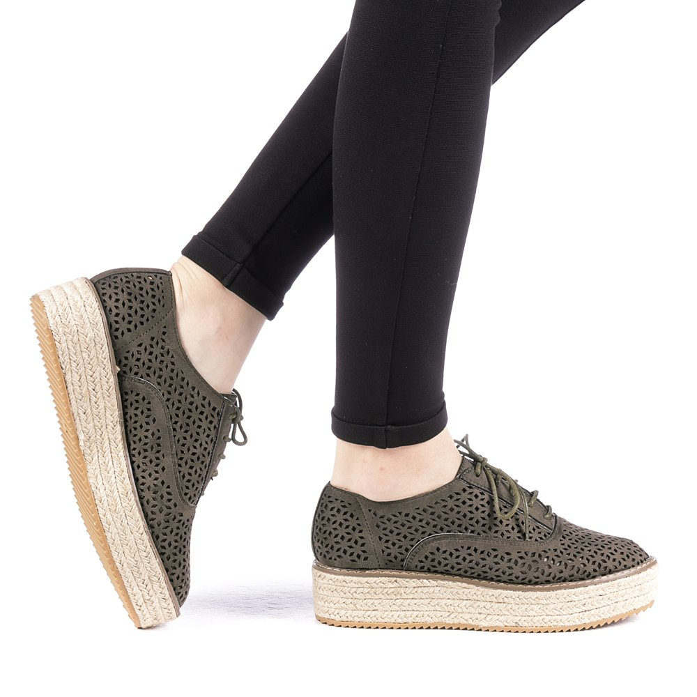 Pantofi dama Direna verzi