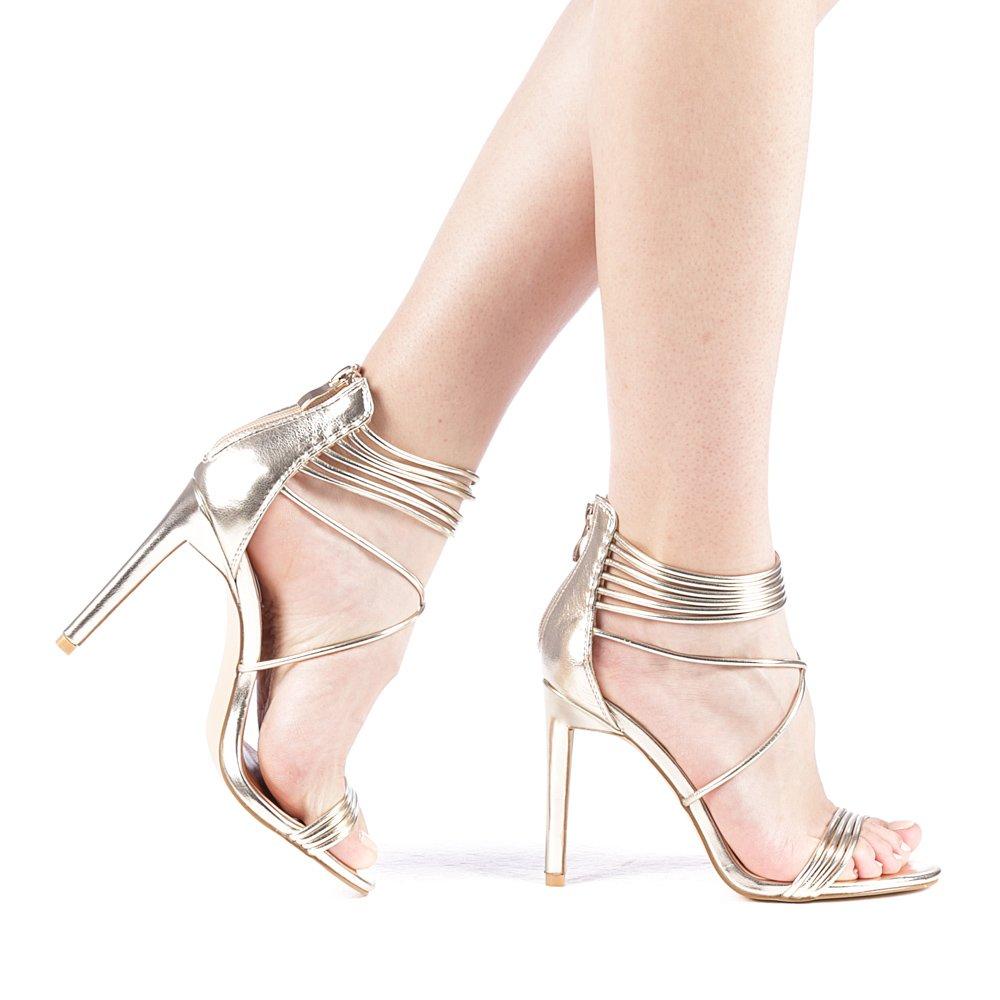 Sandale dama Astiba aurii