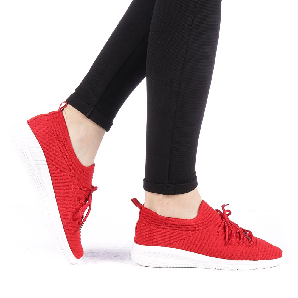 Pantofi sport dama Aglama rosii