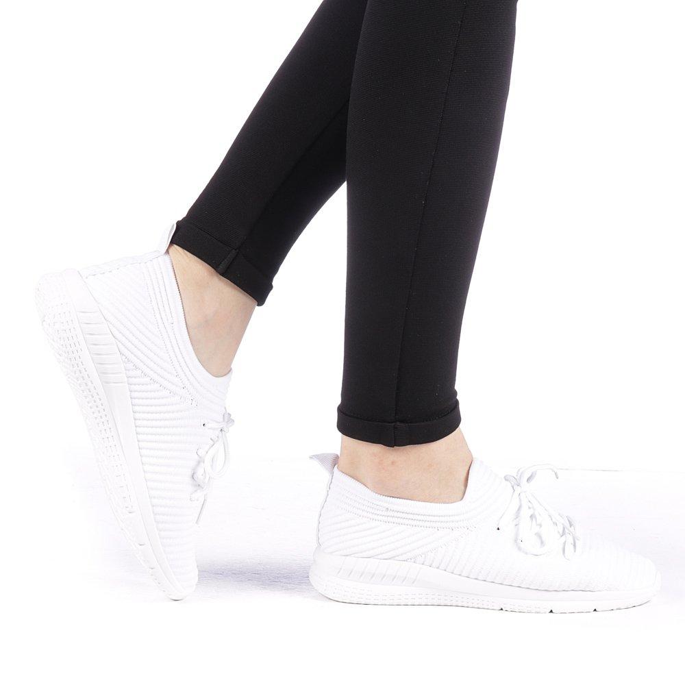 Pantofi sport dama Aglama albi
