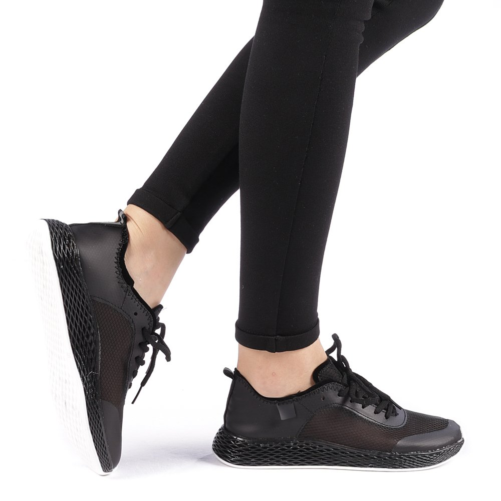 Pantofi sport dama Ginia negri