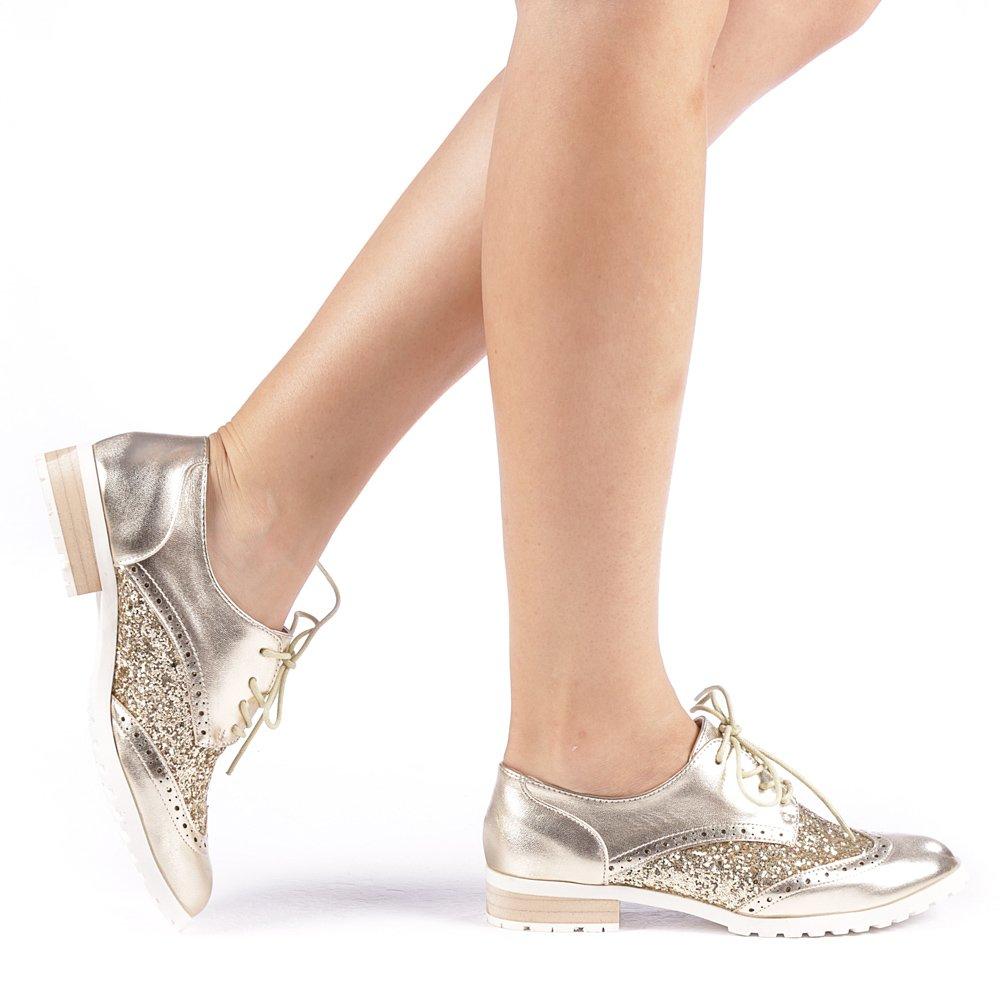 Pantofi dama Rolena aurii