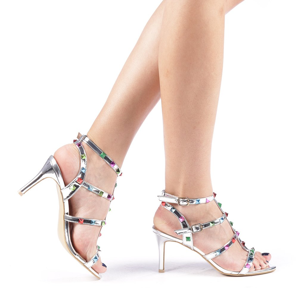 Sandale dama Silvia argintii
