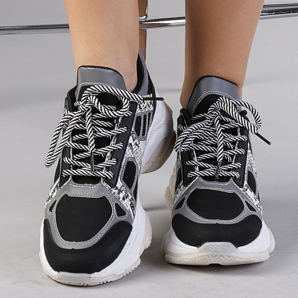 Pantofi sport dama Genoveva negri