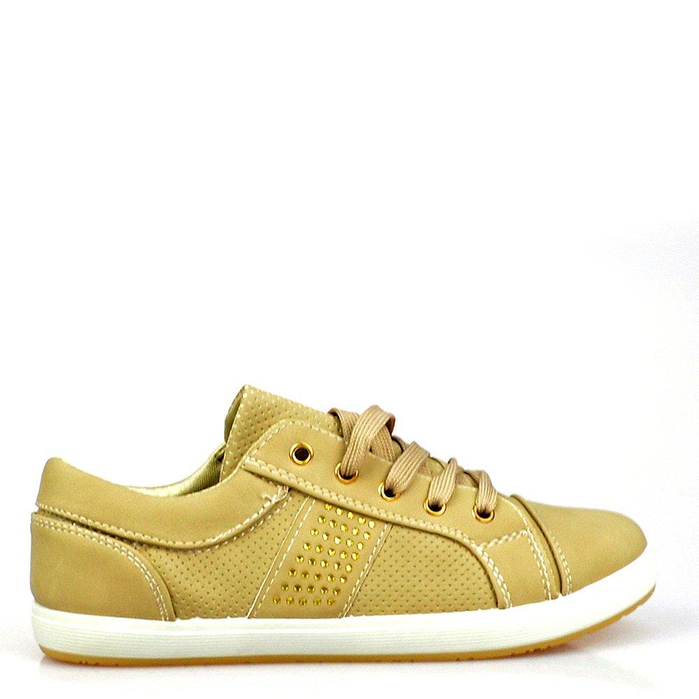 Pantofi sport dama khaki Enid