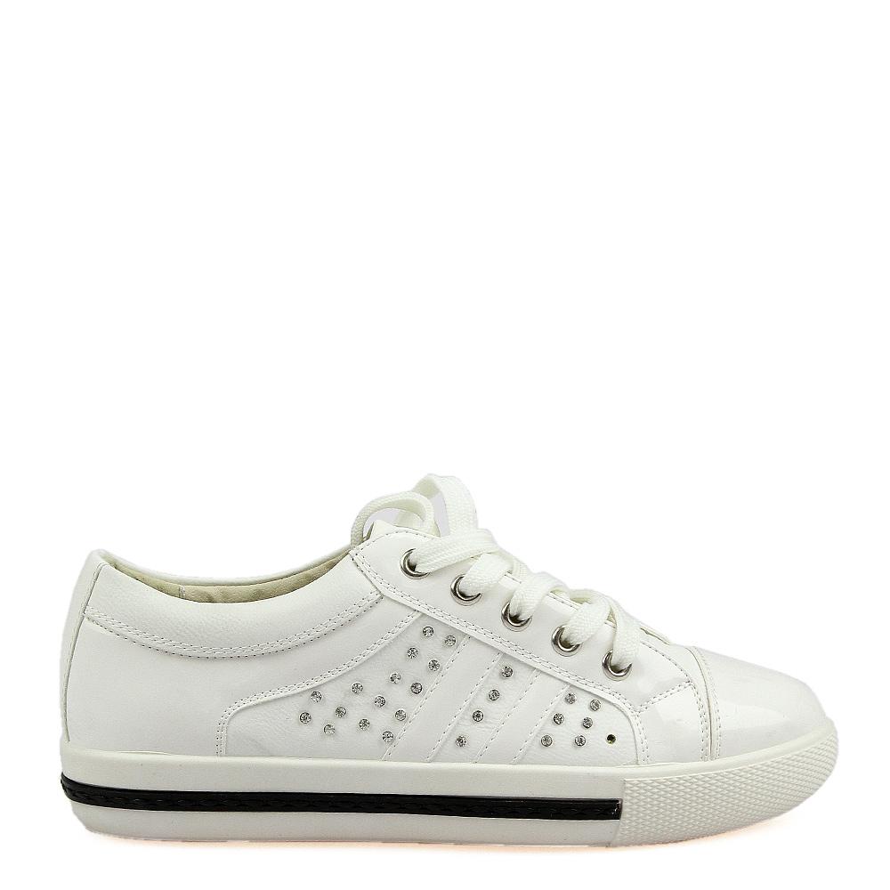 Pantofi sport dama Isolda albi