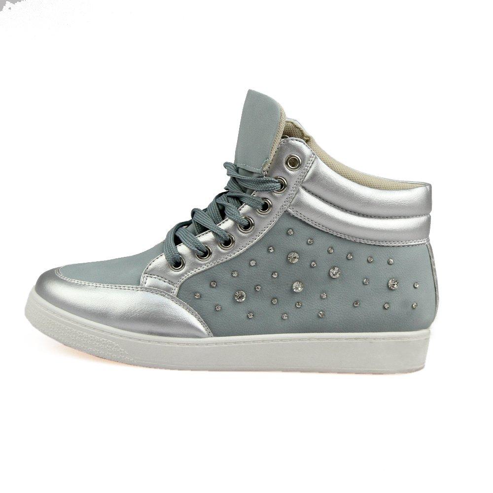 Sneakers dama Ionela gri albastrui