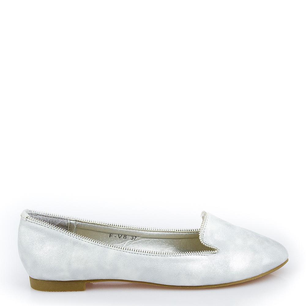 Balerini Dama Lucille Argintii