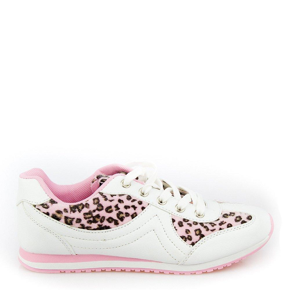 Pantofi Sport Dama Melda 2 Albi Cu Roz