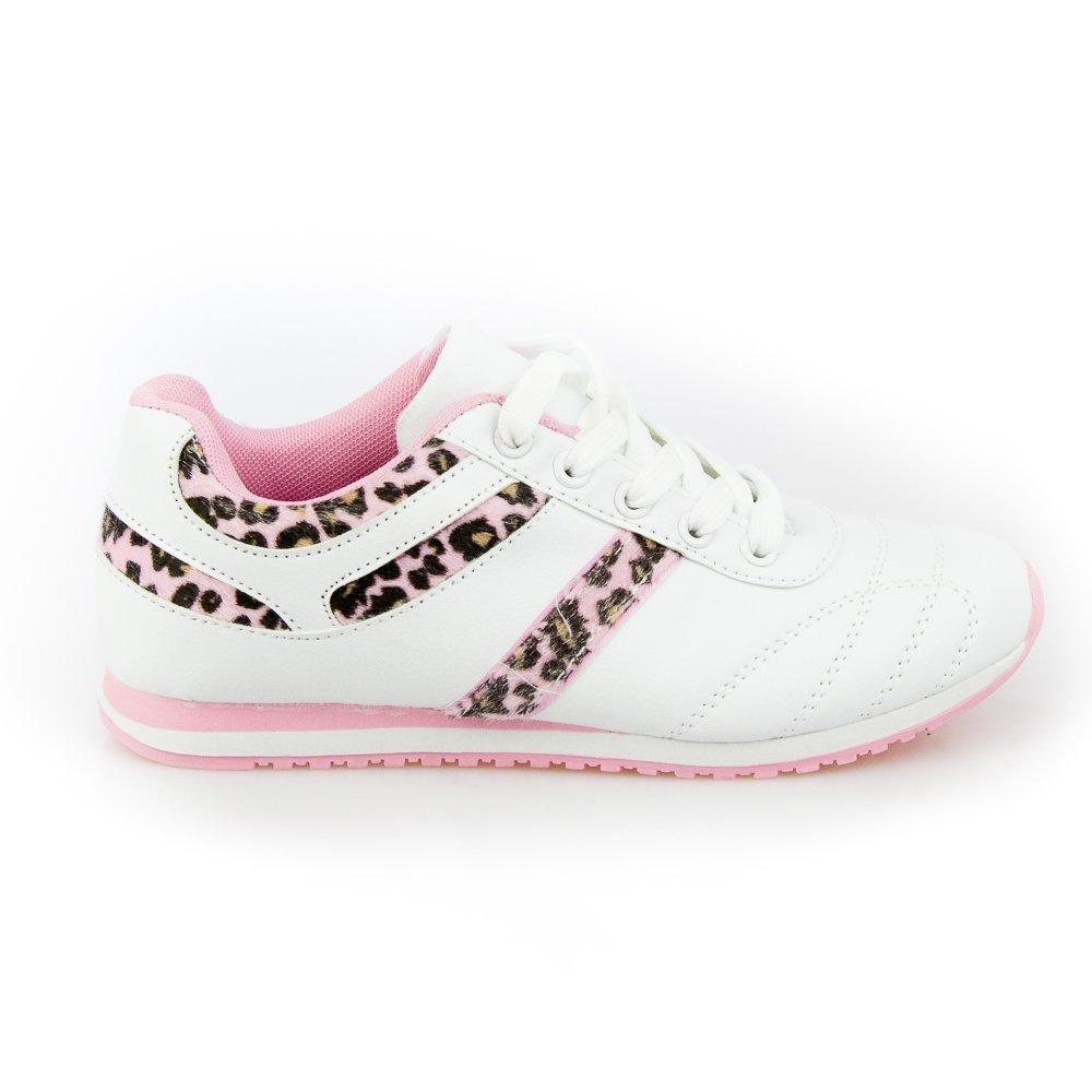 Pantofi sport dama Phoenix 2 albi cu roz