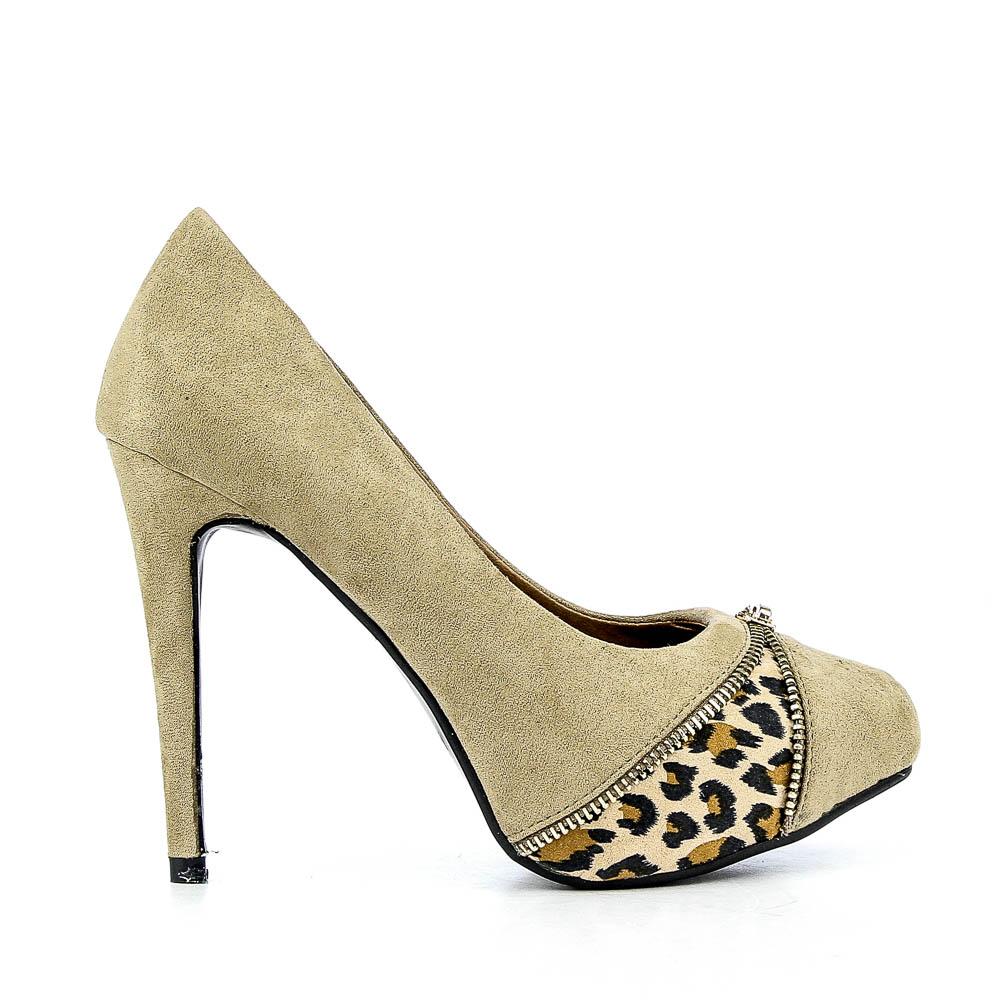 Pantofi dama Luminita khaki