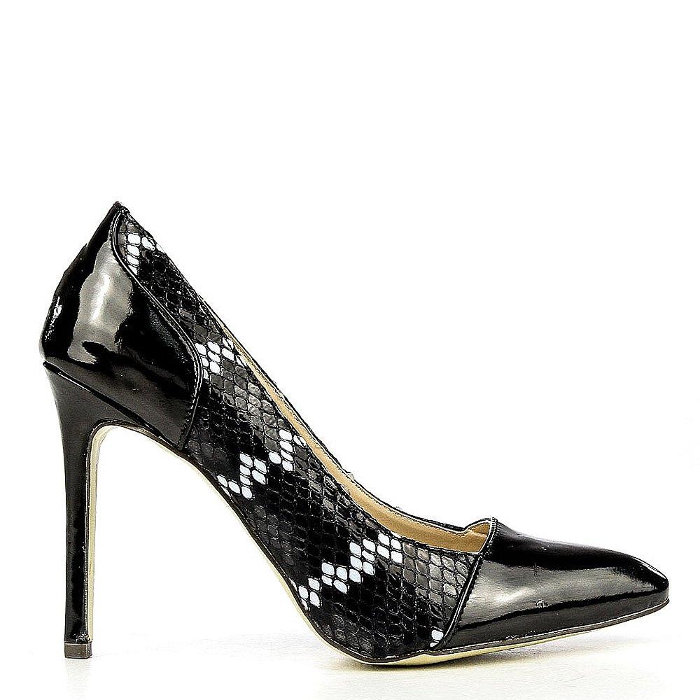 Pantofi stiletto dama Oriana negri