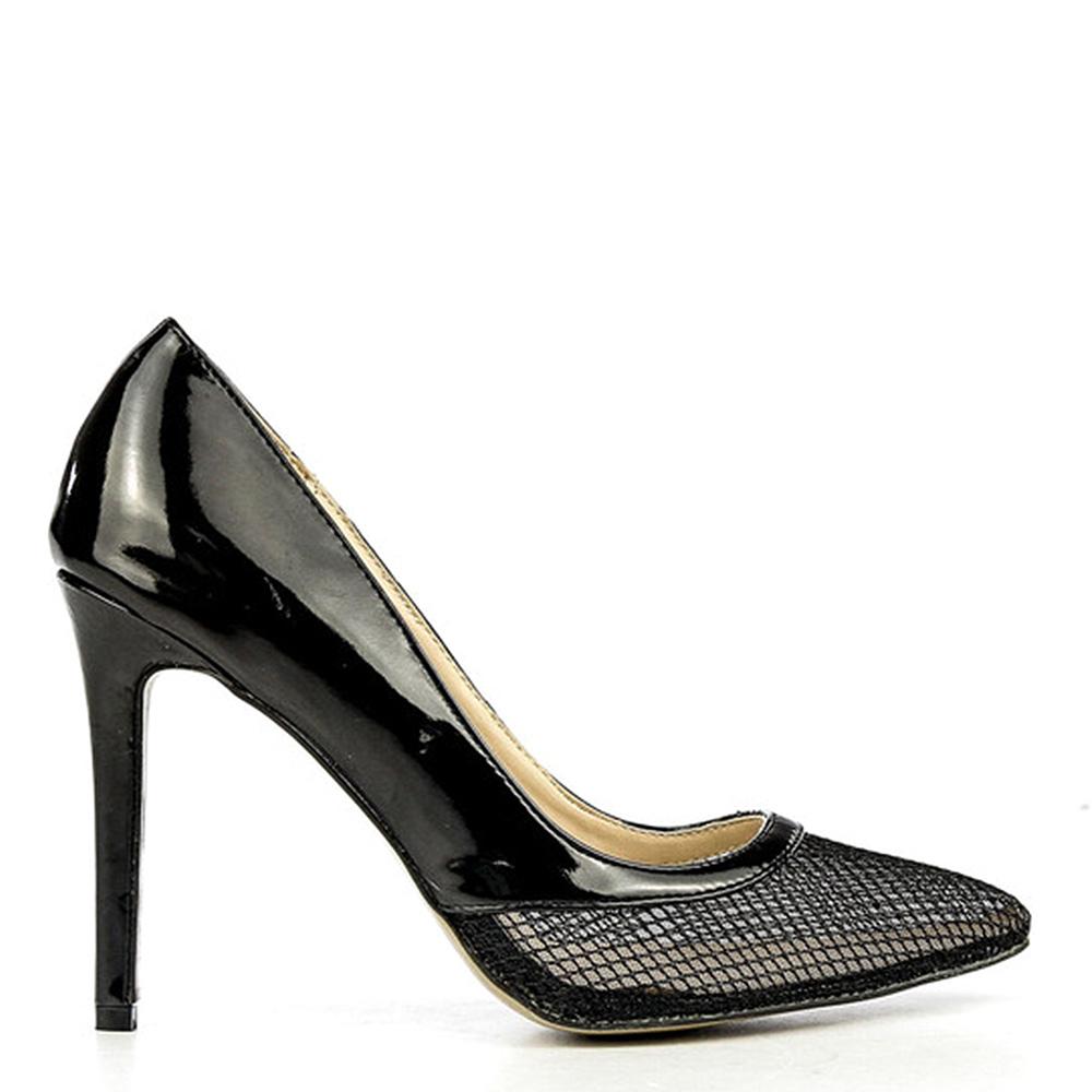 Pantofi stiletto dama Burn negri