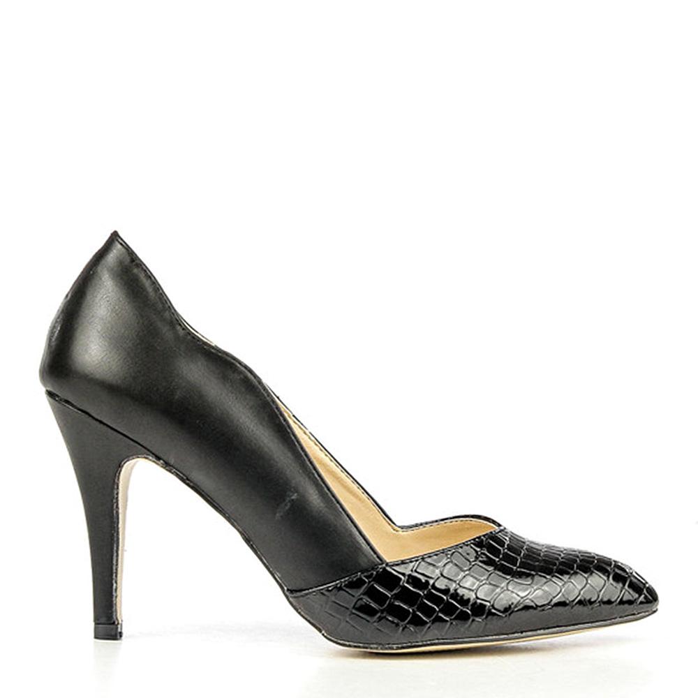 Pantofi stiletto dama Otilia negri