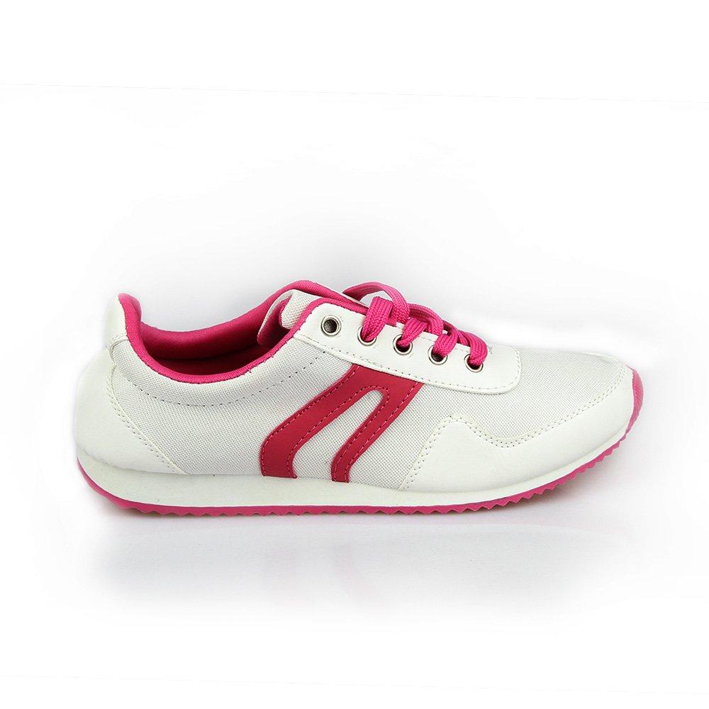 Pantofi sport dama Bety 2 albi cu roz