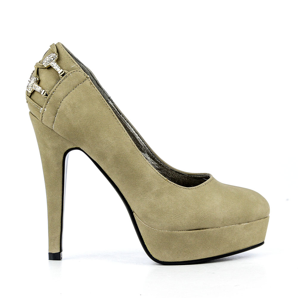 Pantofi dama Edana khaki