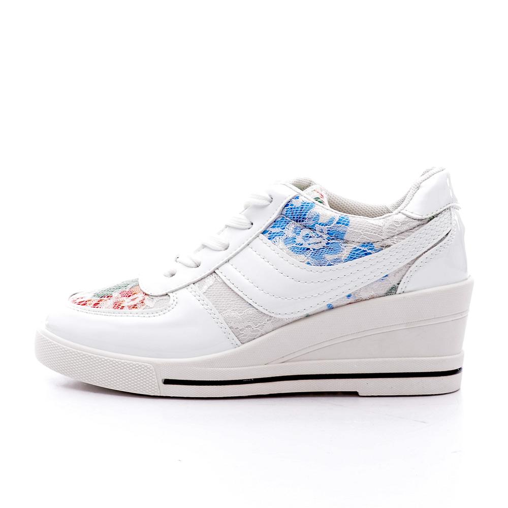 Sneakers Dama Meg Alb