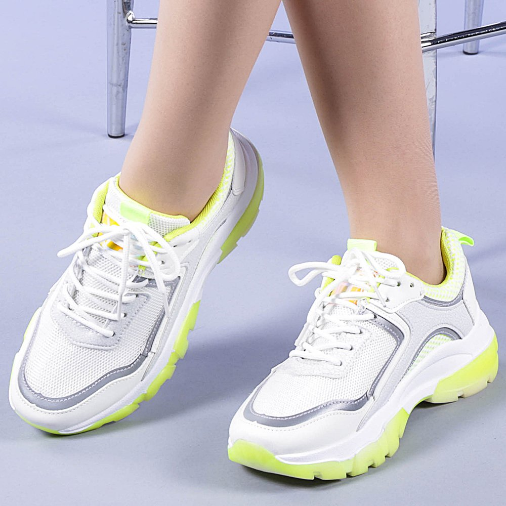 Pantofi sport dama Terena galbeni