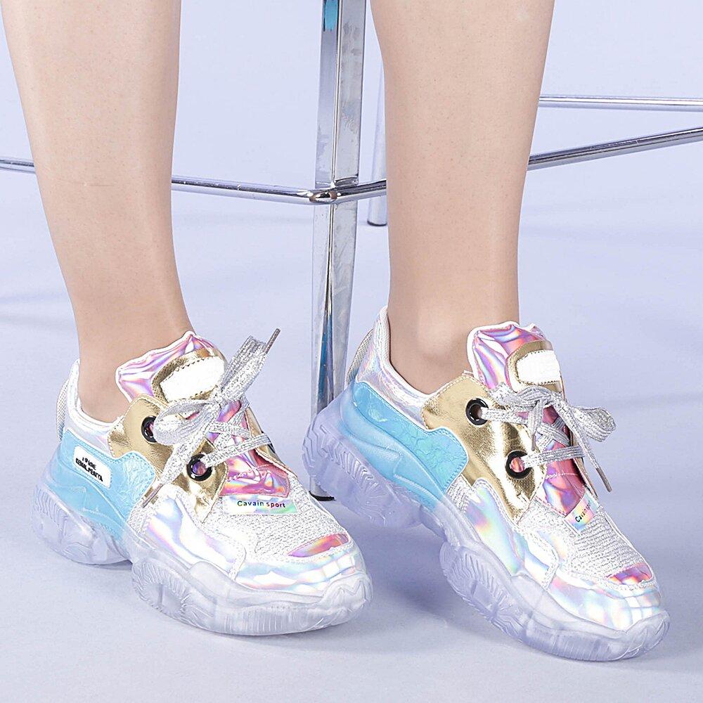 Pantofi sport dama Claudia aurii