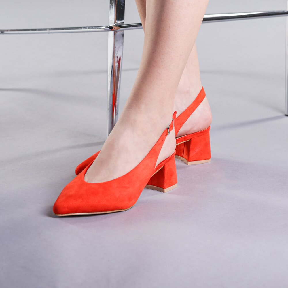 Pantofi dama Alice portocalii
