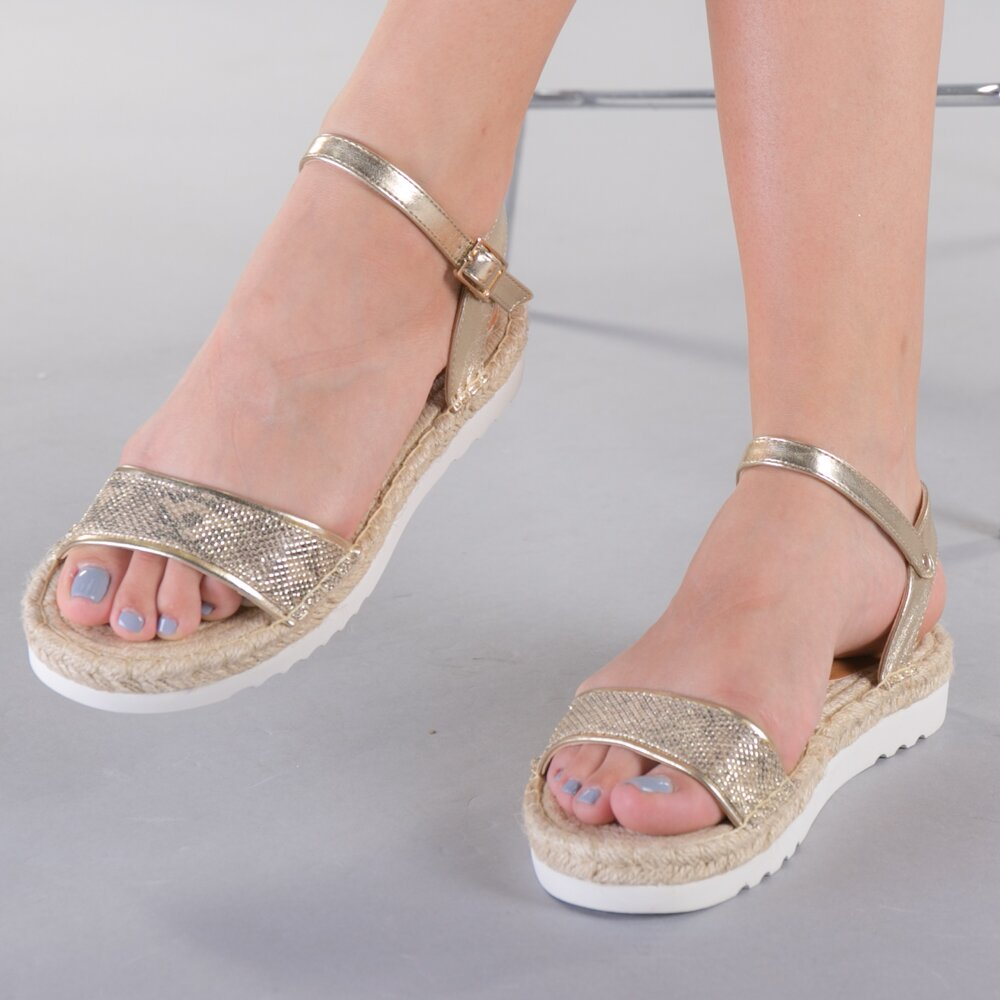 Sandale dama Lidia aurii